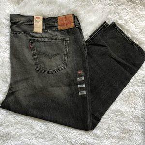 Men's Levi Jeans Black-Gray color